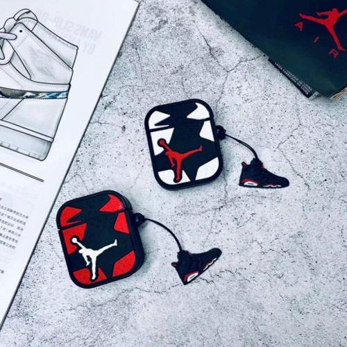 Jordan AirPods Charging Headphones Cases With Keychain Doll