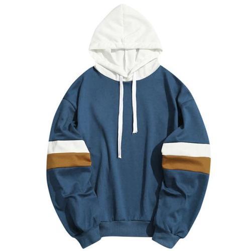 Fashion Hip Hop Sports Colorblock Hoodie