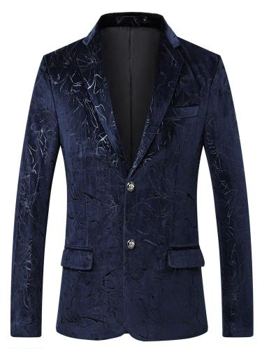 Men's suit coat evening tide cultivate one's morality leisure comfortable fashion single row two grain of buckle