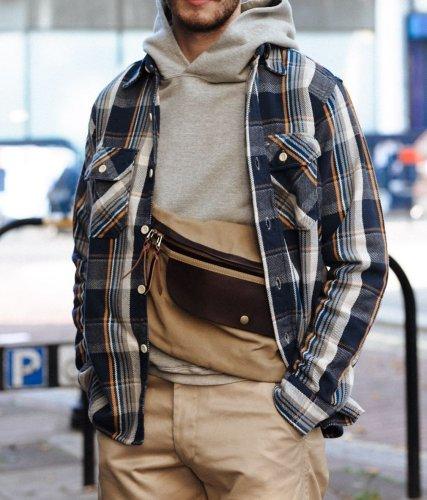 New vintage check jacket