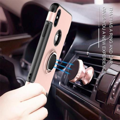 Luxury Magnetic Bracket Finger Ring Cover Case for iPhone
