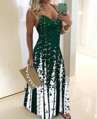 2020 Women Casual Loose Strap Dress Colors Summer Sexy Boho Bow Camis Dresses Maxi Dresses