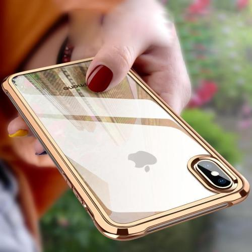 Shockproof Plated Clear Case For iPhone X XS Max XR