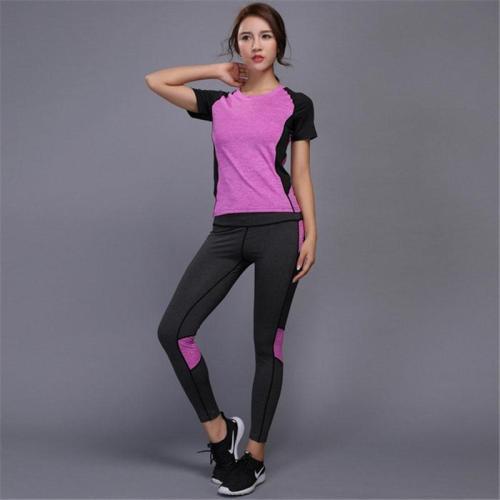 5 colors Women's sportswear Yoga Set sports set Fitness Gym set Running Tennis Shirt+Pants Yoga Leggings Jogging Workout suit