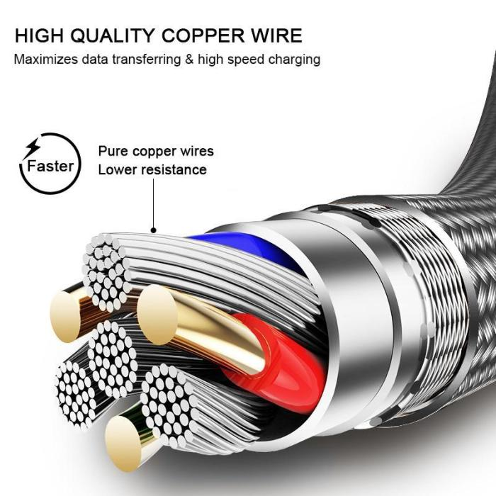 Hi-Tensile Fast Charging Lighting USB Cable For iPhone iPad