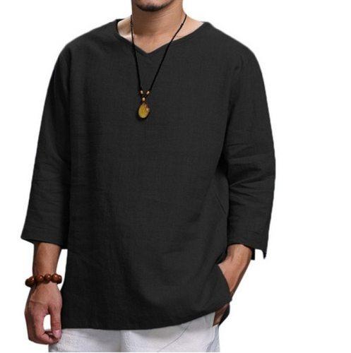 European American New Men's Clothing Linen Shirts Men's 2020 Hot Sale Hot Style Casual Loose Camisas Para Hombre