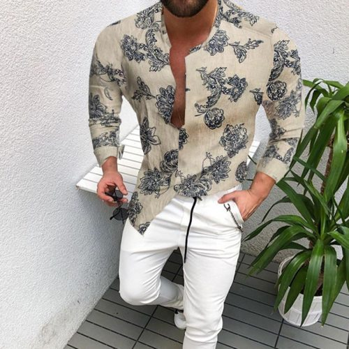 Long-sleeved Shirt Men 2021 Autumn Loose Shirt Literary Casual Hot Style Men's Clothing European American Wholesale