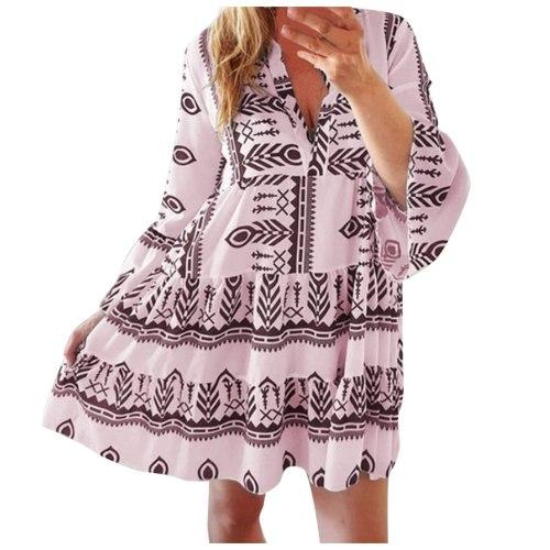 Summer Womens Sundress Fashion V Neck Midi Vestidos Female Solid Ruffle Dresses Asymmetrical Robe Vestido De Mulher