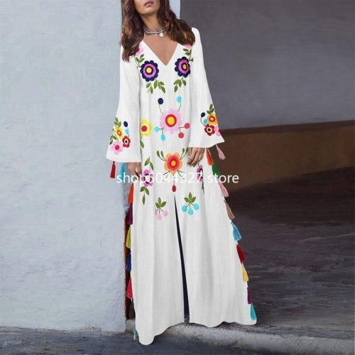 African Dresses For Women 2021 Africa Clothing Muslim Long Dress High Quality Length Fashion African Maxi Dress For Lady