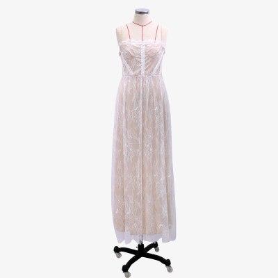 NEW Sexy White Lace Summer Women Maxi Dresses Beach Spaghetti Strap Backless Plus Size Dress Mesh Femme Long Dress Vestidos