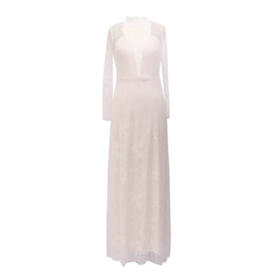 White Dress Ladies Sexy Perspective Mesh Lace Club Party Dress Evening Female Summer Dress 2021 Chic Design Elegant Dress