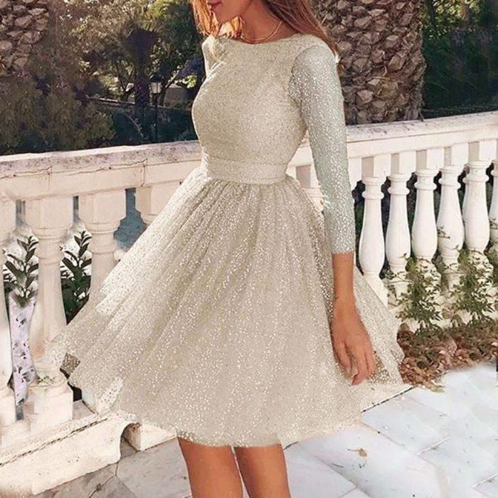 Top Selling Elegant Dresses For Women 2021 O-Neck Harajuku Wedding Women'S Dress Party Evening Lace Mini Dress vestido de mujer