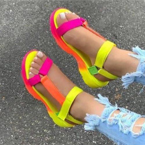 Summer Womans platform sandals Casual women shoes Comfortable Open Toe Non-Slip Beach sandals for women zapatos de mujer 2021