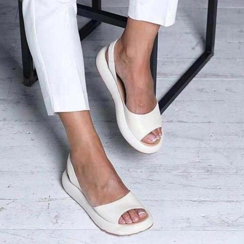 2021 Woman Sandals Fashion Comfortable Sandals Women Summer Fashion Low Heel Retro Peep Toe Ladise shoes Vintage Plus Size 35-43