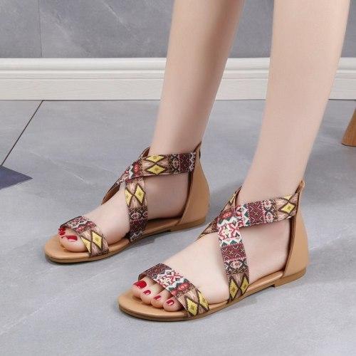 Female Open Toe Non Slip 2021 Casa Beach Slippers New Sandals Women Summer New Lady Beach Flat Shoes Bohemian Zapatillas Mujer