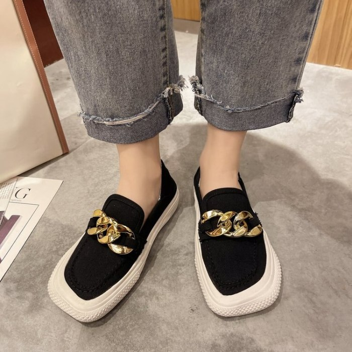 Round Toe Women's Shoes Platform Modis Low Heels Casual Female Sneakers Slip-on All-Match Clogs 2021 Slip On Espadrille Summer
