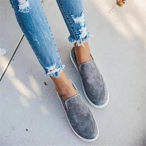 Women Wedges Shoes Sneakers Casual Round Toe High Heels Flats Wedges Comfortable Plus Size Loafers Leisure Women's Wedges Shoes