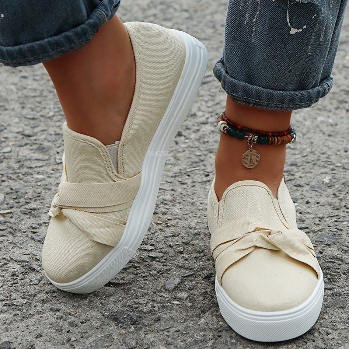 Vulcanize Shoe Sneakers Women Shoes Ladies Slip-On Knit Solid Color Sneakers for Female Sport Mesh Casual Shoes Zapatillas Mujer