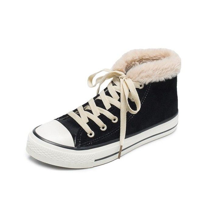 Women's Shoes Winter Large Size Warm Cotton Shoes Velvet Casual Women's Shoes High Top Winter Sneakers 2020 new