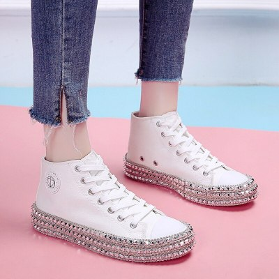 2021 Women Sneakers Fashion Casual Shoes Unisex Comfortable Breathable Flats Female  Korean  Slip on Shoes for Women