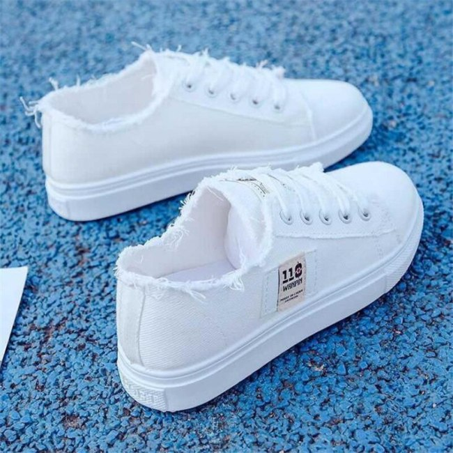 New girls' white shoes, fashionable, lightweight, comfortable, non-slip wear-resistant sneakers, casual hiking shoes, women