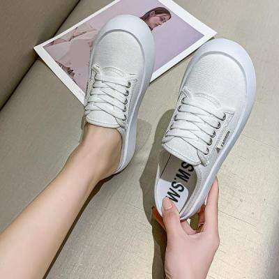Shoes For Girls Cover Toe Ladies' Slippers Platform Low Slipers Women Luxury Slides Cute Summer 2021 Flat Designer Cotton Fabric