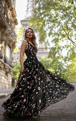 Sexy Deep V Neck Backless Summer Dress Women Elegant Lace Maxi Evening Party Dresses Vestidos