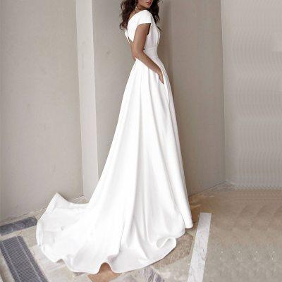 Women Floor-length Dress Sexy V Neck Slim Party Dress Ladies White Side Split Dress Casual Sleeveless Maxi Dresses