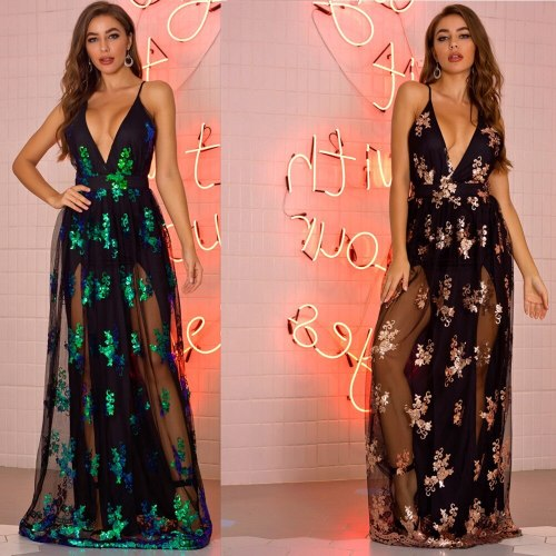Sexy Club Outfits Sequin Party Woman Dress Summer Evening Bodycon Long Dresses Elegant Vintage Woman Prom Sequin Dress Vestidos
