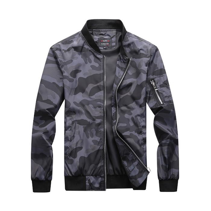 Men's Spring Bomber Jacket Men Autumn Camouflage Jackets Male Military Coats Mens Camo Windbreaker BM303