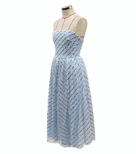 European and American New Women's Dunhuang Hot Sexy Sleeveless Strapless Bra Dress Sequined Medium-Length Dress