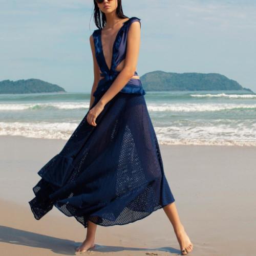 Party Dress Summer Sundress Women Sexy Sleeveless Backless Party Long Dress Beach Holiday 2021 Casual Vestidos
