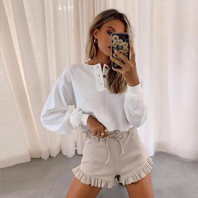 Womens Ladies Autumn Winter Long Sleeve Plain Baggy Tops T-shirt Casual Comfy