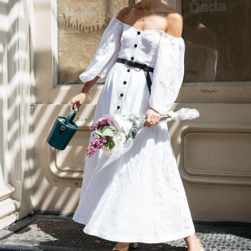 2021 Fashion Boho Long Maxi Dress Women Summer Ladies Sleeveless White Beach Dress Evening Party Casual Dresses Vestidos