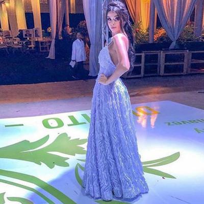 Elegant 2021 Evening Dress Bride Gown Lace&Sequins Robe de soir Suitable for Parties Plus Size Woman dresses