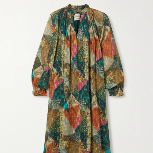 Autumn New Boho Print Maxi Dress Women Vestidos Beach Ethnic Lady Gypsy Long Sleeve Dresses Loose Female