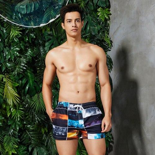 Summer Beach Shorts Men Swim Shorts Colorful Quick Dry Men's Surf Board Shorts Random Pants