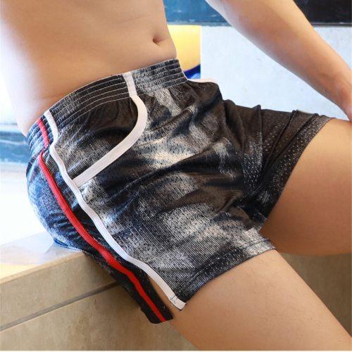 Men's Home-wear Fashion Mesh Breathable Casual Shorts Joggers Shorts Slim Fit Sweatpants With Pocket Pantalones Cortos Hombre