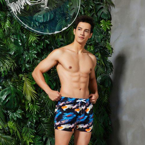 Seobean Swimwear Mens Beach Shorts Men Swimsuit Leisure Short Quick Drying Men Board Shorts Sunga