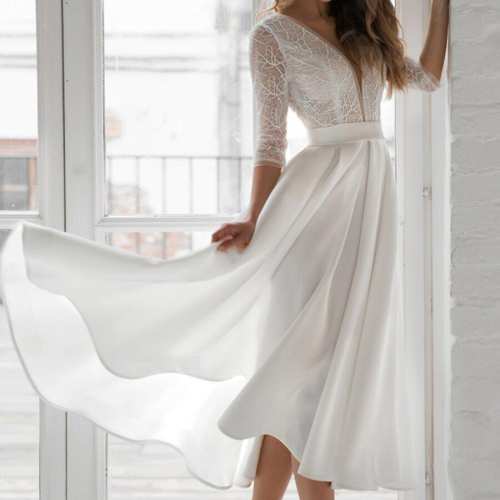 2021 Summer Women Long Party Dress Sexy Backless White Solid Bow Night Evenig Long Dress