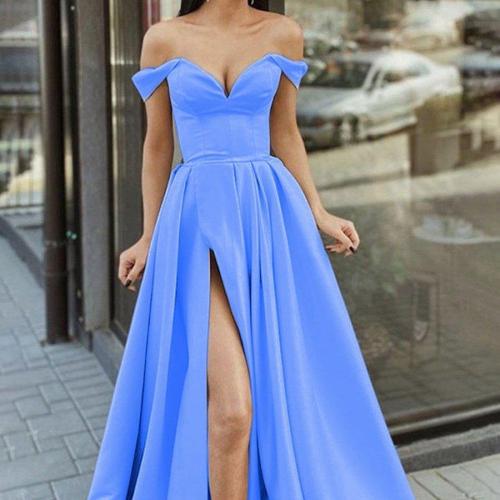 Long dress multicolor 2021 sweetheart romantic and elegant princess party prom women's tube top V-neck halter swing dress