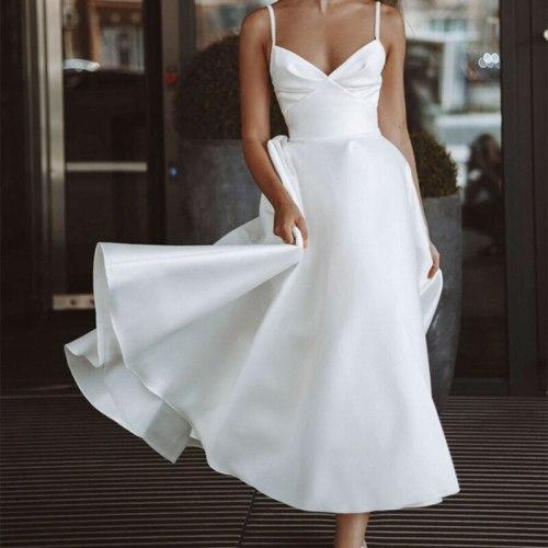 New Sleeveless Spaghetti Strap Women's Long Dress Sexy Backless High Waist A-line Dresses 2021 Summer Elegant Party Lady Vestido