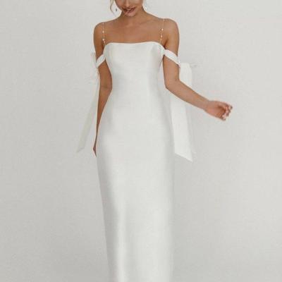 2021 Fashion Sexy Women Dress Elegant Party Night Backless Spaghetti Straps Slim Dress Plus Size