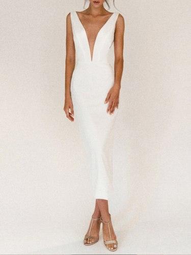 Sexy Sleeveless Party Dress Elegant All White Vintage Bodycon Dresses Women Strapless Off Shoulder Long Wedding Robe Vestidos