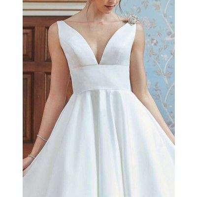 Dress Women's Casual Solid Color Pleated Stitching Dress Summer Sexy Sleeveless V-neck High Waist Backless Dress