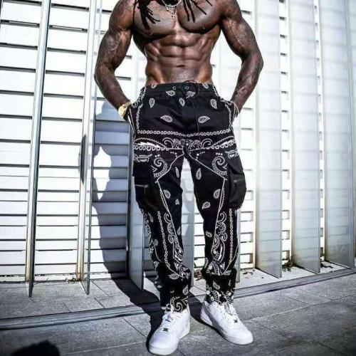 Hip hop printing pants men trousers fashion streetwear sweatpants for men joggers High street Loose cargo pants men