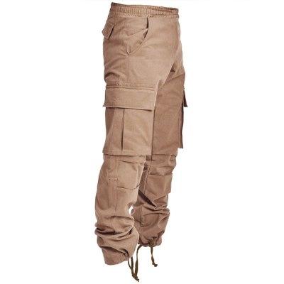 Men's Pants Harem Pants Fashion Trousers Hip Hop Cargo Pants Multi-Pockets Elastic Waist Big Pockets Ankle Length Trend Trousers