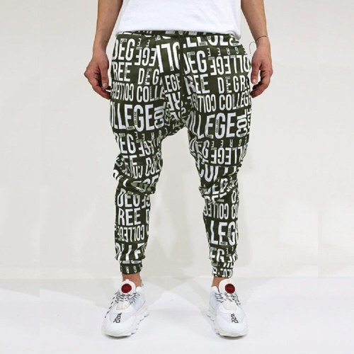 New Casual Sports Trousers For Men Cool Personality English Alphabet Pattern Fashion Trendy Trousers For Men