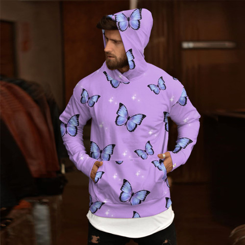 2021 Hoodie Butterfly Hoodies Men Hoodie Sweatshirts Mens Hooded Tracksuit Fashion Winter Polluver