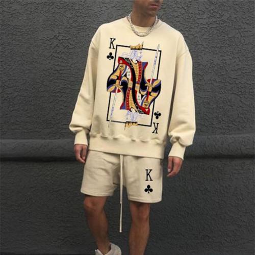 Sweatshirt Poker Fashion Print Pullover Spring Autumn Men Hipster Casual Style Sweatshirt